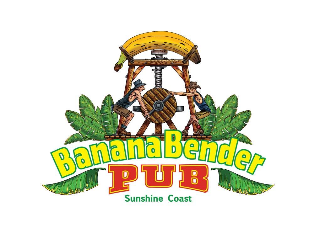 banana bender logo branding graphic design