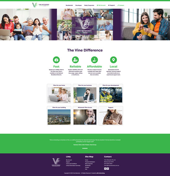 Vine Networks Website