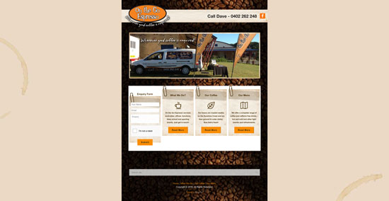 OnTheGoEspresso website