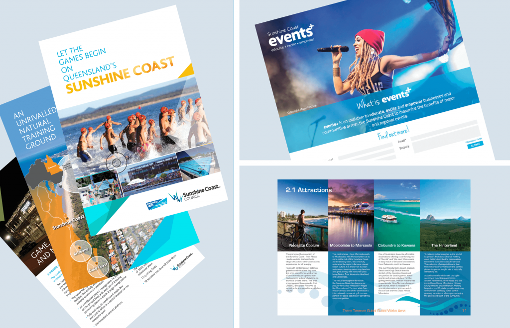 Sunshine Coast events graphic design